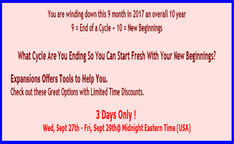 What Are You Ending? What Are You Beginning? 3 Day Offer
